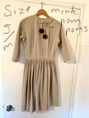 Vintage tan mink holiday dress for Sale in Sacramento, CA