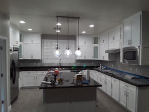 Kitchen cabinets, granite and laminate floor for Sale in Las Vegas, NV