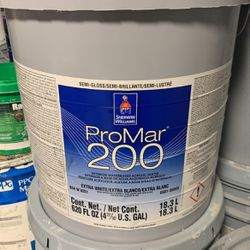 "5gal Sherwin Williams ProMar200 Semi-Gloss ""6126 NAVAJO WHITE"" for Sale in Maple Valley,  WA"