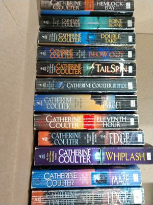 Catherine Coulter Books and a few others. for Sale in Evansville, IN