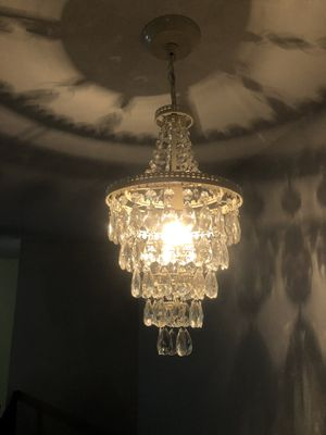Acryllic crystal diamond chandelier for Sale in Verona, NJ