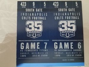 Colts tickets for Sale in Fort Wayne, IN