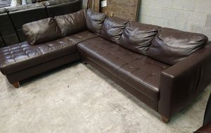 Milano 2pc Italian leather sectional sofa for Sale in Decatur, GA