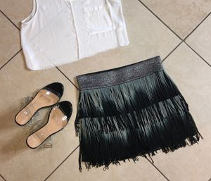 Fringe Metallic Skirt size M for Sale in Las Vegas, NV