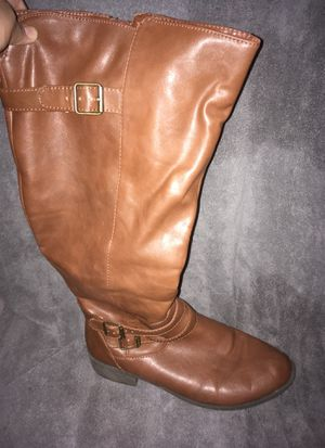Brown riding boots Size 10W for Sale in Phoenix, AZ