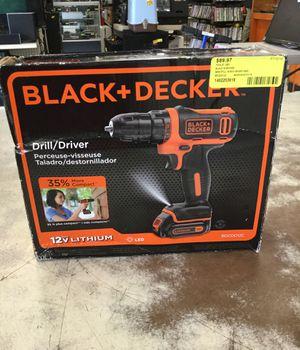 Black & Decker 12v drill/driver for Sale in Mobile, AL