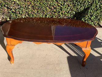 Real Wood Glass Top Coffee Table $50 for Sale in Corona,  CA