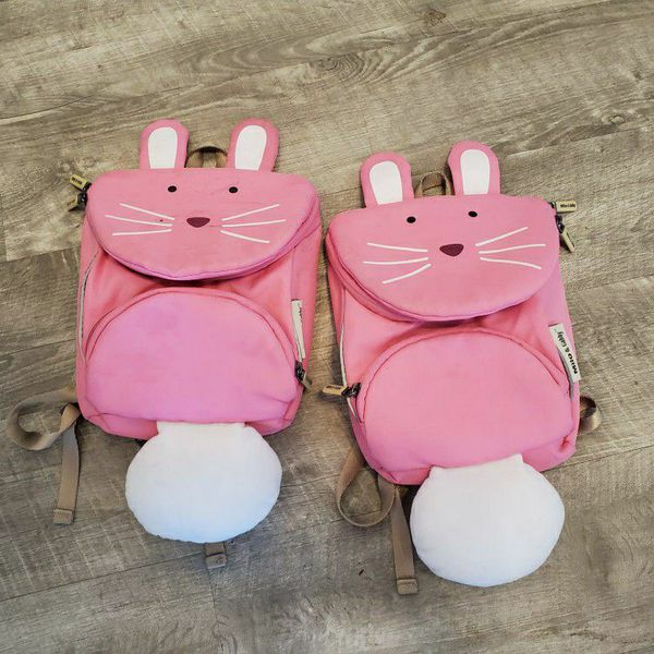 2 Toddler Bunny Backpacks