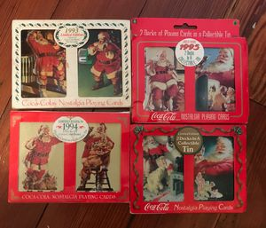 Vintage Coca Cola Christmas playing cards for Sale in Bartow, FL