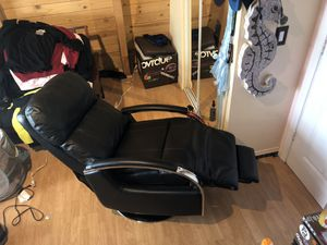 Brand new recliner chair (zero gravity), brand new futon and tv stand with glass top for Sale in Santa Clarita, CA