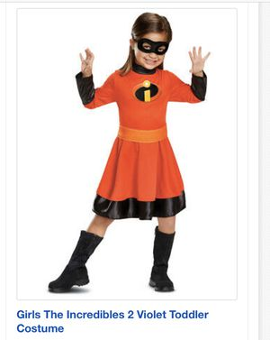 Girls the a incredibles 2 Violet Toddler Costume for Sale in Bolingbrook, IL