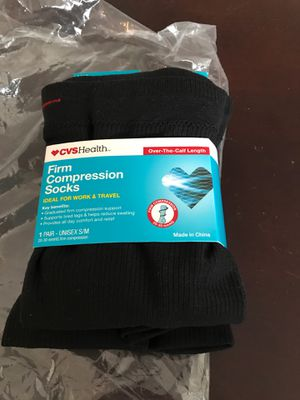 New CVS health firm compression socks idle for work and travel for Sale in Alexandria, VA