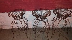 3 three foot wrought iron flower plant holders for Sale in St. Louis, MO