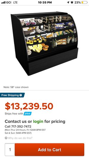Structural Concepts refrigerated beside non refrigerated merchandise display for Sale in Anchorage, AK