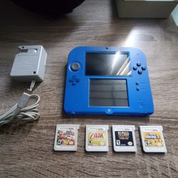Blue Nintendo 2DS With 4 Games for Sale in Chula Vista,  CA