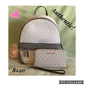 Authentic MK backpack and wallet set for Sale in La Palma, CA