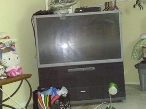Tashiba 52inch TV. floor model $50.00 or b.o. it's work very well for its just taking too much space in my room for Sale in West Palm Beach, FL