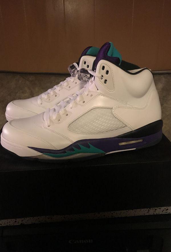 Brand new! Air Jordan 5 white grape size 12