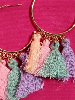 Gold Tone And Pastel Tassle Earrings for Sale in Wenatchee,  WA
