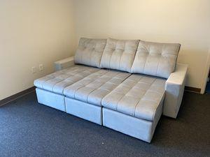 BRAND NEW // Monaco Velvet Fabric Retractable and Reclining Sofa for Sale in Tamarac, FL