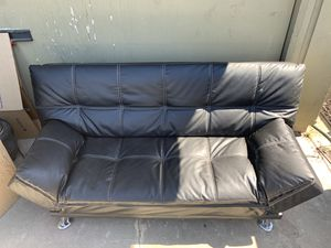 Leather Sofa bed / Futon for Sale in Castro Valley, CA