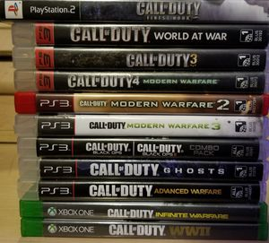 Call Of Duty Games (NOT SELLING AS A WHOLE/BUNDLE) for Sale in Washington, DC