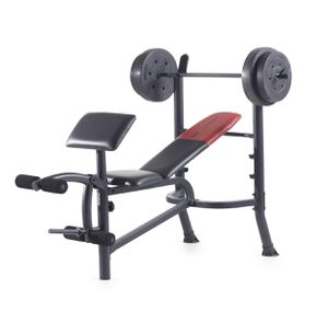 Weider Pro 265 Standard Bench w/ Weight Set for Sale in Milpitas, CA