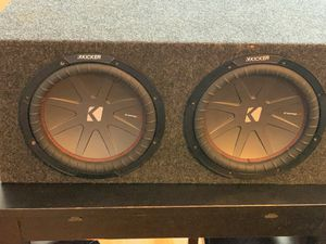 Kicker CompR 12 inch sub and Polk 4-channel amp for Sale in District Heights, MD