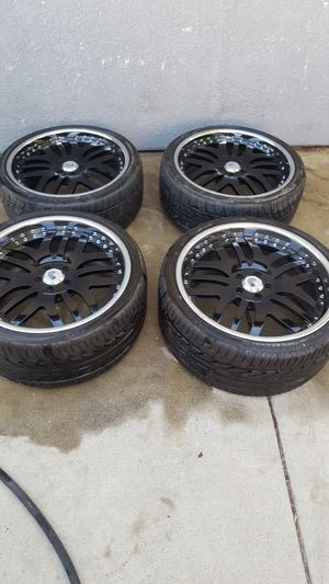 """20"""" staggered Asanti rims and tires for Sale in San Bernardino, CA"""