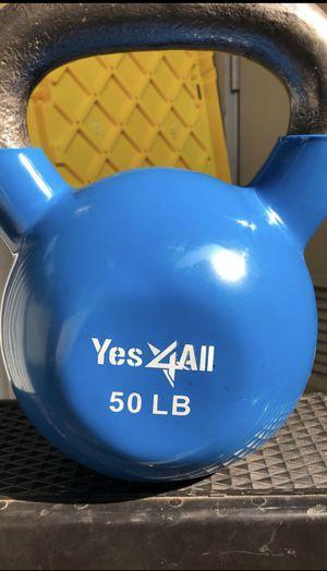 Yes4all 50lbs vinyl kettlebell kettle bell for Sale in Dublin, CA