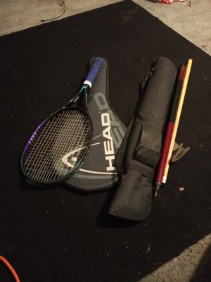 Tennis racket (HEAD) and pool stick with case for Sale in Oakland, CA