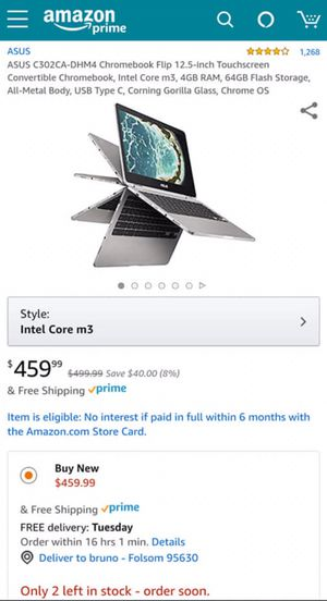 Asus c302 flipbook chromebook for Sale in Phillips Ranch, CA