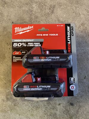 Milwaukee M18 2pk 3.0 ah battery for Sale in San Jose, CA