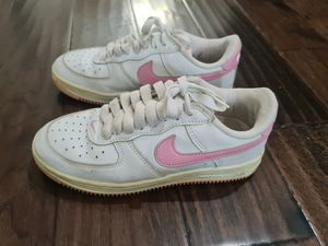 Nike AF1 Air Force 1 Women's 6 White Pink Leather for Sale in Chattanooga, TN