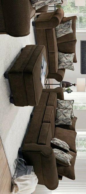Nice Chocolate Sofa & Loveseat (OVERSIZED) for Sale in Houston, TX