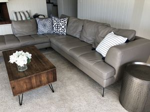Leather couch for Sale in Manson, WA