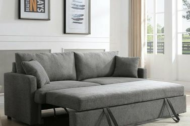 Rebecca Gray Fabric Sleeper Sofa VENDOR MYCO for Sale in Houston,  TX