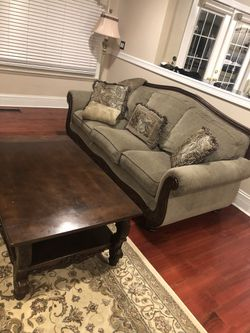 Family Room furniture set (Sofas, end table, carpet all included) for Sale in Dearborn Heights,  MI