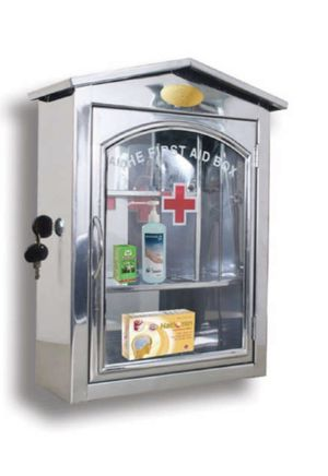 Wall-mount medicine cabinet (stainless steel, white powder coated) for Sale in Boca Raton, FL