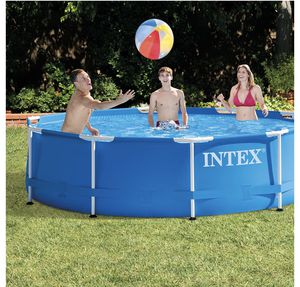 """Intex 10' x 30"""" Metal Frame Above Ground Swimming Pool includes pump &filter brand new $300 for Sale in Kent, WA"""