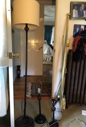 Four lamps and curtain rods for Sale in Warwick, RI