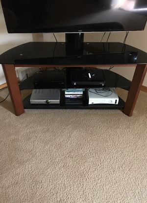 Wooden and Glass TV stand for Sale in Dearborn, MI
