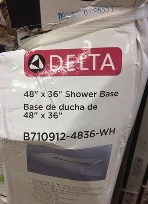 """Delta 48"""" x 36"""" shower base for Sale in Aliso Viejo, CA"""