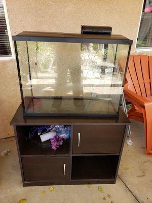 37 gallon aquarium with stand for Sale in Menifee, CA