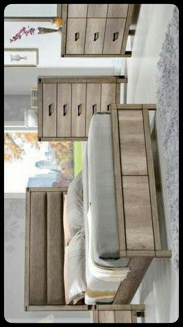 💤KING💤 Matteo Light Brown King Panel Bed for Sale in Mount Rainier, MD
