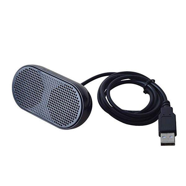 USB Mini Speaker Computer Speaker Powered Stereo Multimedia Speaker for Notebook Laptop PC(Black)