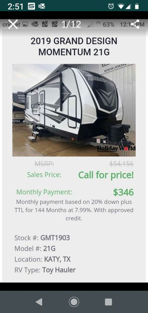 New 2019 Momentum 21G for Sale in Katy, TX