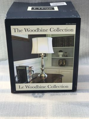BRAND NEW ALLEN & ROTH WOODBINE 28-in BRUSHED NICKEL TABLE LAMP WITH FABRIC SHADE for Sale in Salisbury, NC