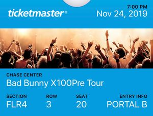 BAD BUNNY CONCERT TICKETS for Sale in San Pablo, CA