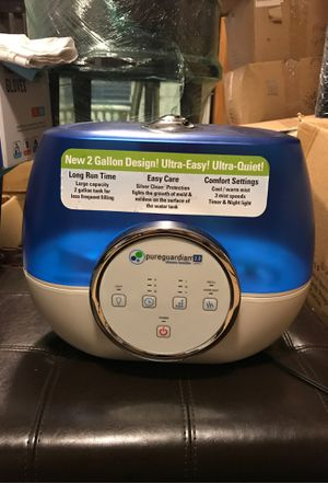 Pureguardian 2 gallon humidifier for Sale in San Jose, CA